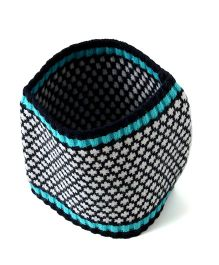 Little Hip Boutique Knitted Head Warmer - Black & Blue