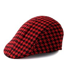 Little Hip Boutique Attractive Beret Cap - Red & Black