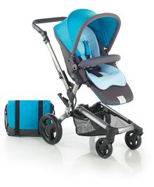 Jane Rider Pushchair With Mother Bag Rain Cover And Parasol Umbrella - Aqua Blue - 5317 R10