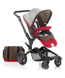Jane Rider Pushchair With Mother Bag Rain Cover And Parasol Umbrella Sand - 5317 R15