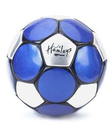 Hamleys Star Metallic Football - Blue And Silver