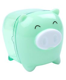 Deli Pig Shape Pencil Sharpener - Green