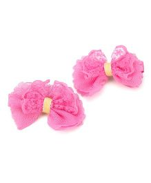 Kid-o-nation Net Bow Shape Hair Clip Set - Pink