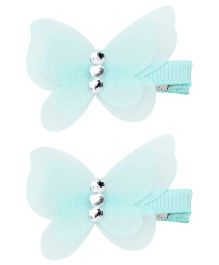 Kid-o-nation Alligator Clip Butterfly Applique - Green