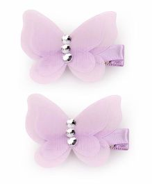 Kid-o-nation Alligator Clip Butterfly Applique - Purple