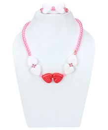 D'Chica Hearts Jewelry Set - Pink & White