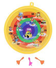 Ratnas Crazy Magnetic Dart Game Car Print - Yellow