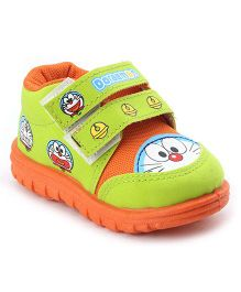 Doraemon Casual Shoes - Green Orange