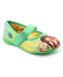 Disney Fairies Belly Shoes - Green Yellow