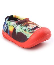 Ben 10 Printed Moccasins - Redish Orange