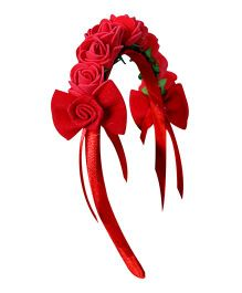 Sugar Candy Rose Crown Hair Band - Red