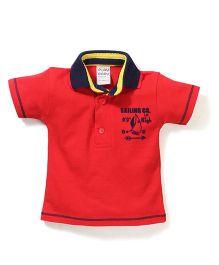 Little Kangaroos Half Sleeves T-Shirt - Red