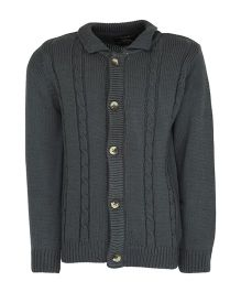 Bells and Whistles Full Sleeves Sweater - Grey