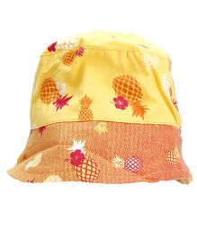 Beebay Pineapple Print Cap - Yellow & Orange
