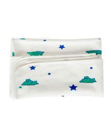 Bachha Essential Bear Print Blanket - Blue