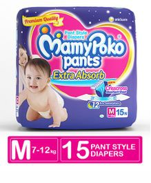 Mamy Poko Extra Absorb Pant Style Diaper Medium -15 Pieces