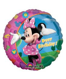 Planet Jashn Minnie Happy Birthday Balloon - Multi Color