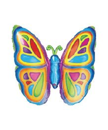 Planet Jashn Bright Butterfly Supershape Balloon - Multicolor
