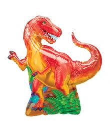 Planet Jashn Dinosaur Party Supershape Balloon - Multicolor
