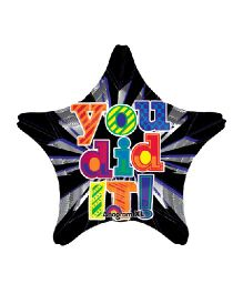 Planet Jashn You Did It Star Jumbo Foil Balloon - Multicolor