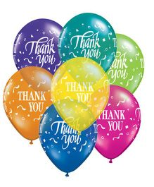 Planet Jashn Thank You Confetti Latex Balloons - Pack of 10