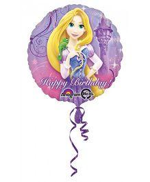 Planet Jashn Disney Rapunzel Happy Birthday Balloon - Purple