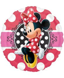 Planet Jashn Minnie Mouse Portrait Happy Birthday Balloon