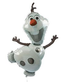 Planet Jashn Disney Frozen Olaf Birthday Balloon - White And Grey