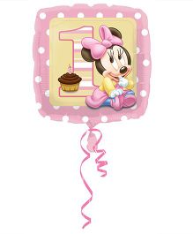 Planet Jashn Minnie Mouse 1st Birthday Girl Balloon - Pink