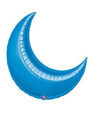 Planet Jashn Crescent Shape Balloon - Blue