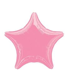 Planet Jashn Star Shape Foil Balloons - Metallic Pink