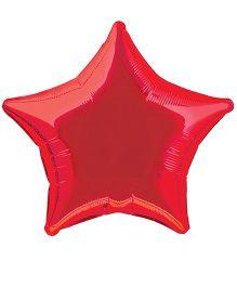 Planet Jashn Star Shape Foil Balloon - Red