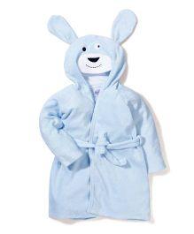Ben Benny Hooded Bathrobe Animal Design - Sky Blue