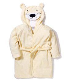 Ben Benny Hooded Bathrobe Animal Design - Light Yellow