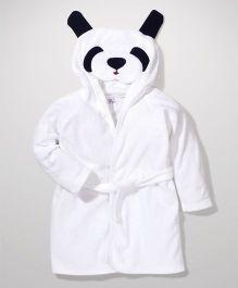 Ben Benny Hooded Bathrobe Animal Design - White