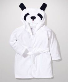 Ben Benny Hooded Bathrobe Animal Design - White