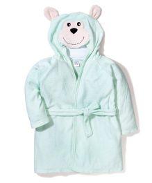 Ben Benny Hooded Bathrobe Monkey Design - Green