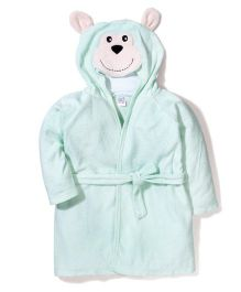 Ben Benny Hooded Bathrobe Monkey Design - Green