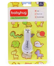 Babyhug Easy Grip Nail Clipper - White