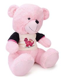 Funzoo Teddy Bear With Dress Pink - 40 cm