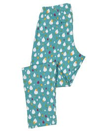 Greenapple Printed Leggings - Blue