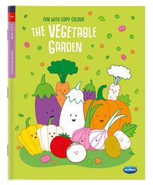 A Book Of Copy Colouring Vegetables - English