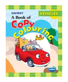 A Book Of Copy Colouring Vehicles - English
