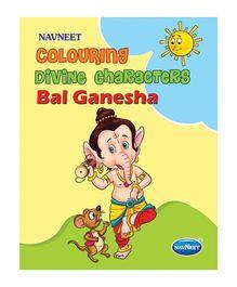 Coloring Divine Characters Bal Ganesha Book - English