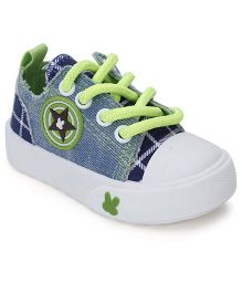 Cute Walk Canvas Casual Shoes - Blue And Green