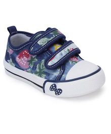 Cute Walk Casual Shoes With Bow Design - Blue