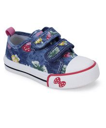 Cute Walk Casual Shoes With Bow Design - Blue Pink
