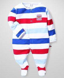 ToffyHouse Striped Footed Rompers - Multi Color