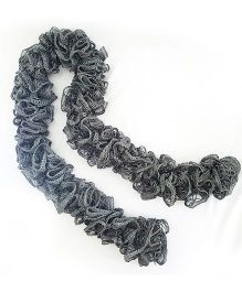 Magic Needles Frilled Scarf - Grey