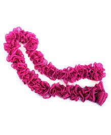 Magic Needles Frilled Scarf - Pink
